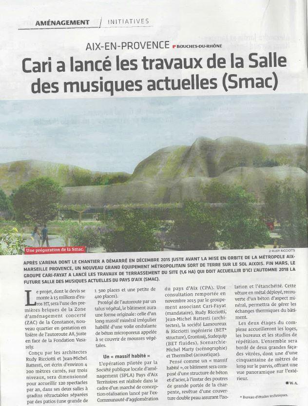Salle de musique La SMAC à Aix en Provence – LANCEMENT