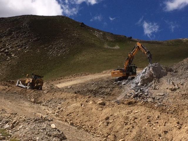 Terrassement piste du Chalvet – Montgenevre