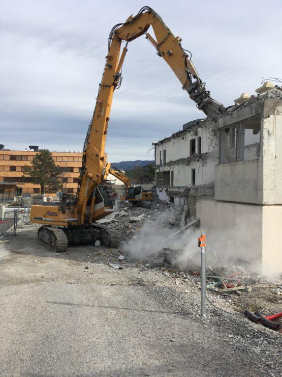 Démolition bâtiment scolaire – Lycée Paul Arene – Sisteron
