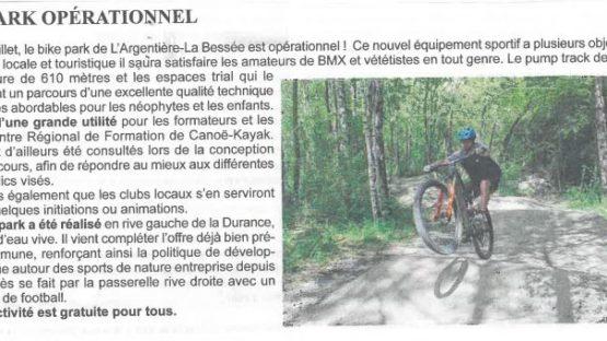 Bike Park – L'Argentiere La Bessée – INAUGURATION