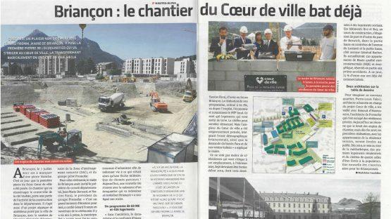 Coeur de ville à Briançon – POSE PREMIERE PIERRE