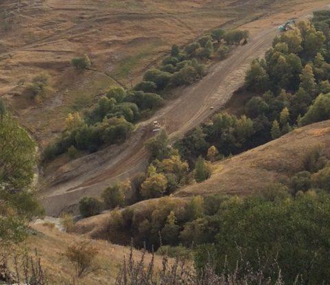 Terrassement piste du Chazelet – La Grave