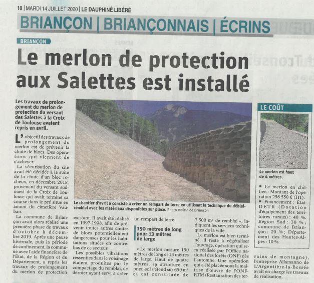 Merlon des Salettes – Briançon